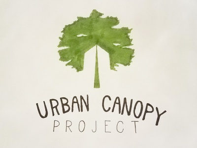 Urban Canopy Project carbon capture fundraiser typography illustration identity logo design logo urban art clouds nature building wip sketch concept skyscraper tree canopy urban