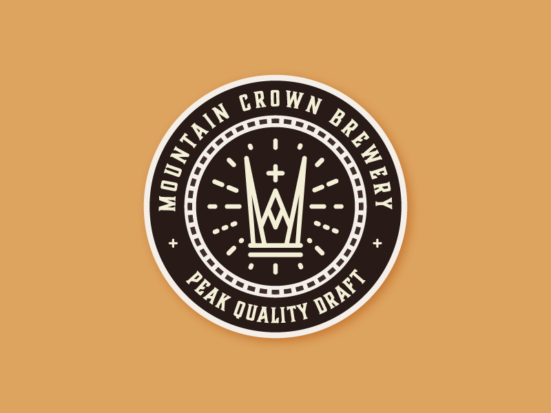 Mountain crown brewery coaster concept dribbble