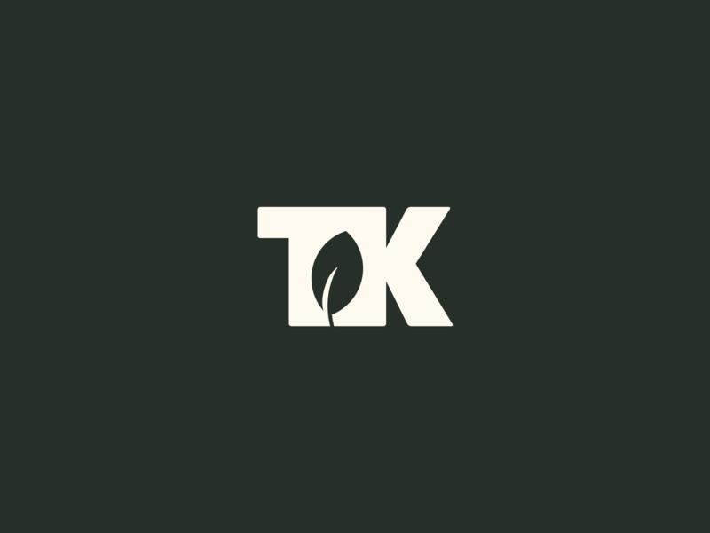 TK landscape lawn care lawncare lawn leaf logo logotype mark leaf icon identity logo design wip logo
