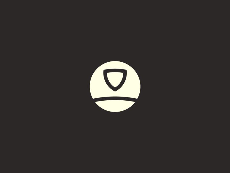 Shield n' Shovel mark spade shovel shield landscape lawn care lawncare icon identity logo design wip logo