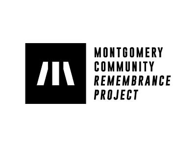 Montgomery Community Remembrance Project civil rights community monuments montgomery typography branding vector identity logo design logo