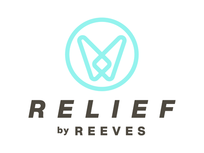 Relief by Reeves myofascial pain muscle pain physical therapy massage therapy identity logo