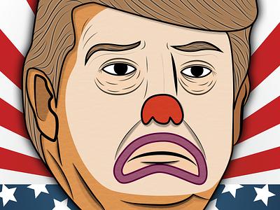 TrumpClown drawing vector illustration politics
