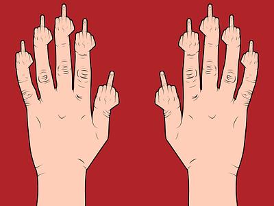 Handfuls Of F.U.'s vector illustration