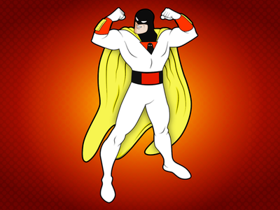 Space Ghost drawings vector space ghost illustration