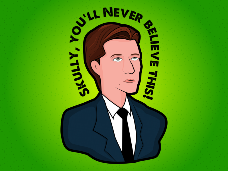 Fox Mulder by Anthony Savage on Dribbble