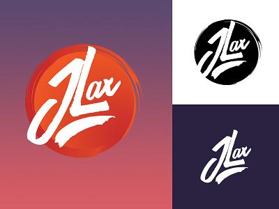 New J.Lax Logo logo script circle brush
