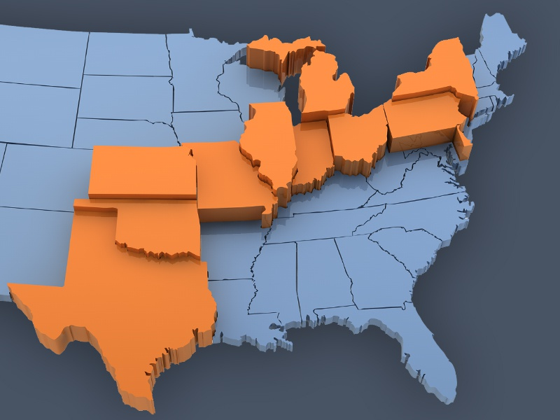 D United States Map By Justin Laxamana Dribbble - Us map 3d