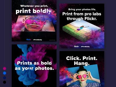 Print Boldly Campaign Ads splash colors campaign