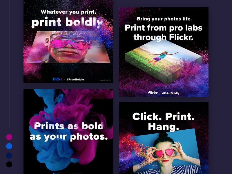 Print Boldly Campaign Ads splash colors campaign
