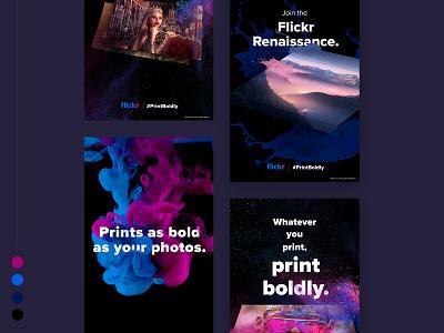 Print Boldly Instagram Story splash colors bold print campaign ad
