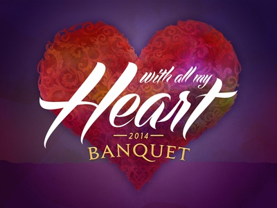 2014 Banquet  design logo heart