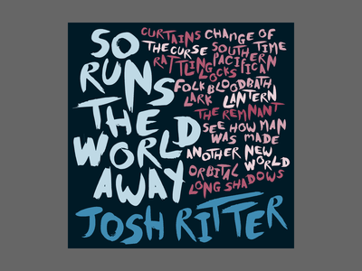 Josh Ritter Album Art music art country josh ritter typography design illustration album cover art cd art cd cover music album artwork album cover design album cover album art album