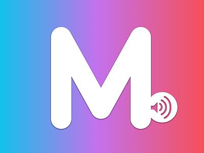 Music red purple icon flat ui musicapp music iphone ios app blue simple design