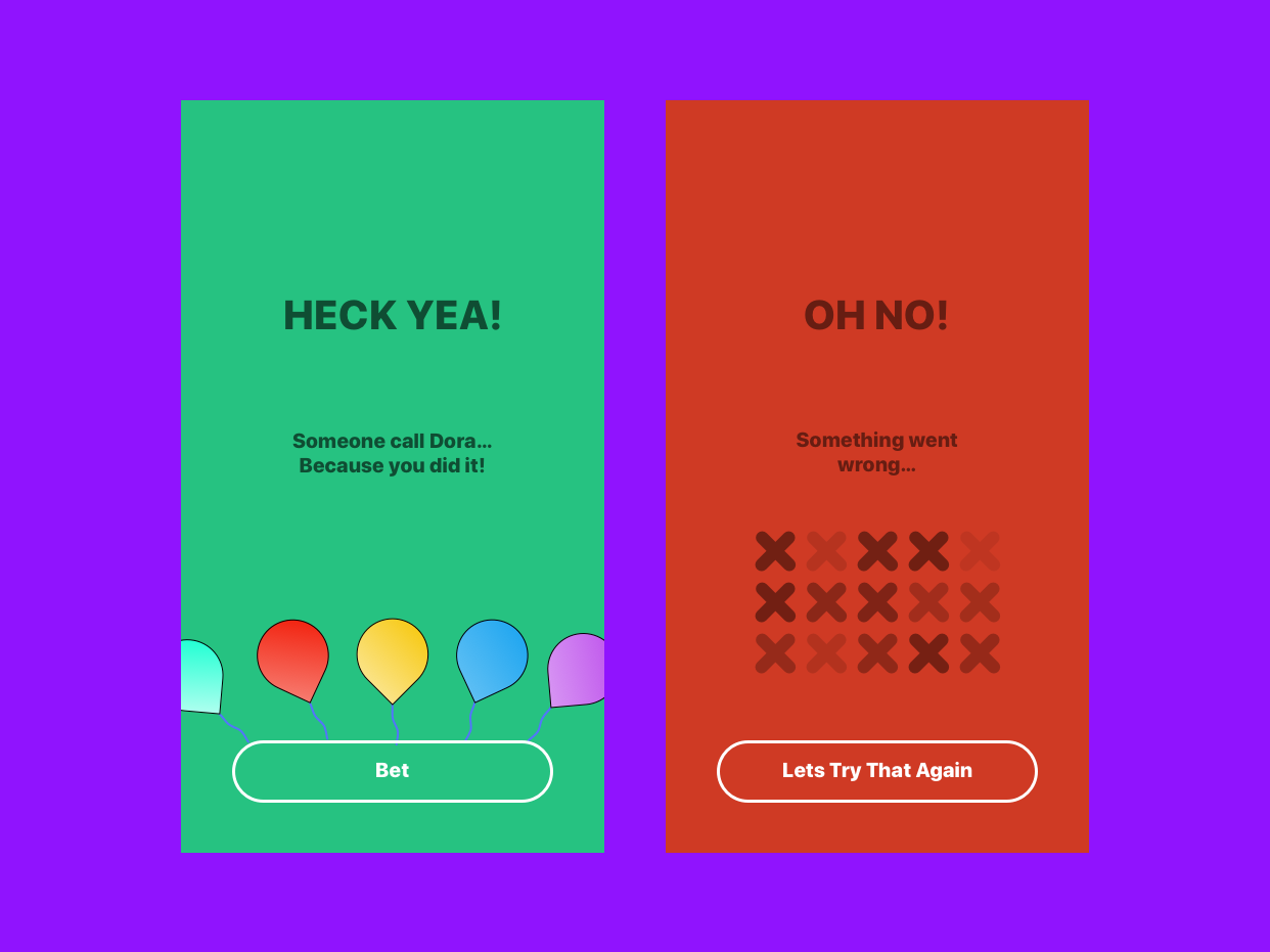 Flash Message - Success & Error by Stasys Meclazcke | Dribbble