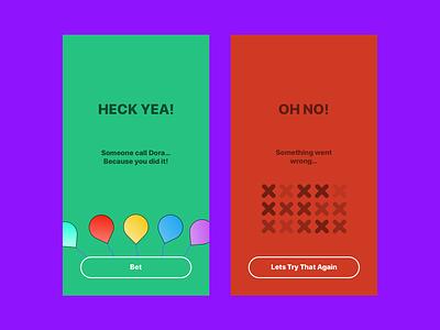 Flash Message - Success & Error purple dailyui 011 ui green red dailyui flat ux iphone ios app design simple
