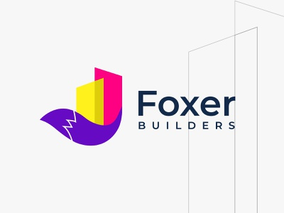 foxer builders brandmark brand identity logotype logo mark logo design concept home services development builder logo property marketing property developer real estate logo fox logo foxer builders best logo designer in dribbble