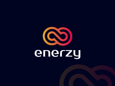 enerzy brand identity logos logo cleanlogos clean design geometric design unique tech logo techno modern logo modernism infiniteloop infinity solar energy power brand design branding best logo designer in dribbble