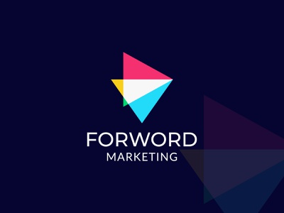 forword marketing logo modern pictorial mark overlapping overlay play modern logo business digital marketing marketing forwarding forword vector brand identity modernism typography best logo minimal modern logo designer branding best logo designer in dribbble