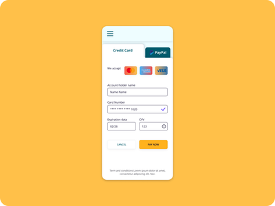 Daily UI Day 002 credit card checkout design ui daily ui 002
