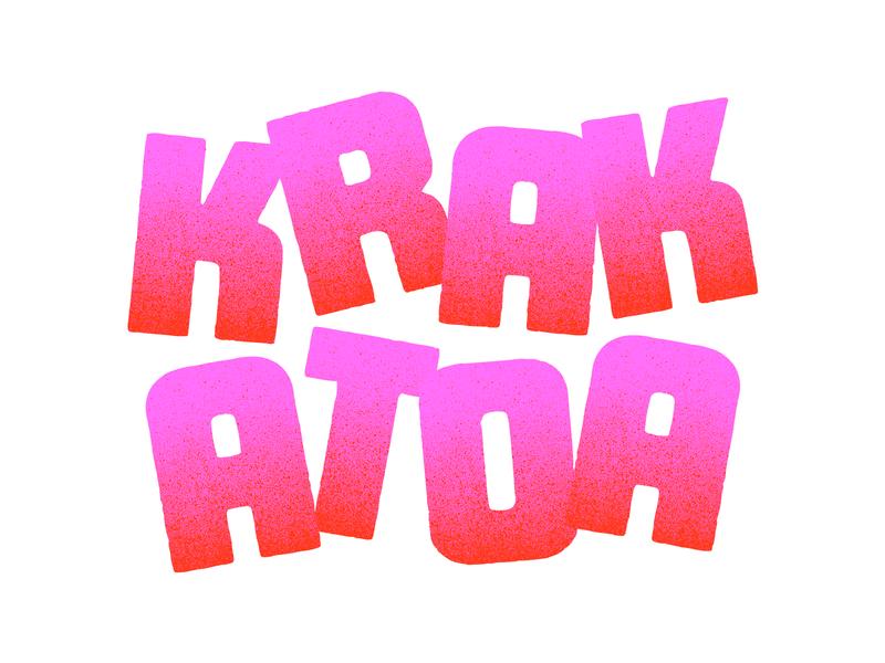 Krak Type Exploration typography branding logotype packaging identity texture type custom type logo