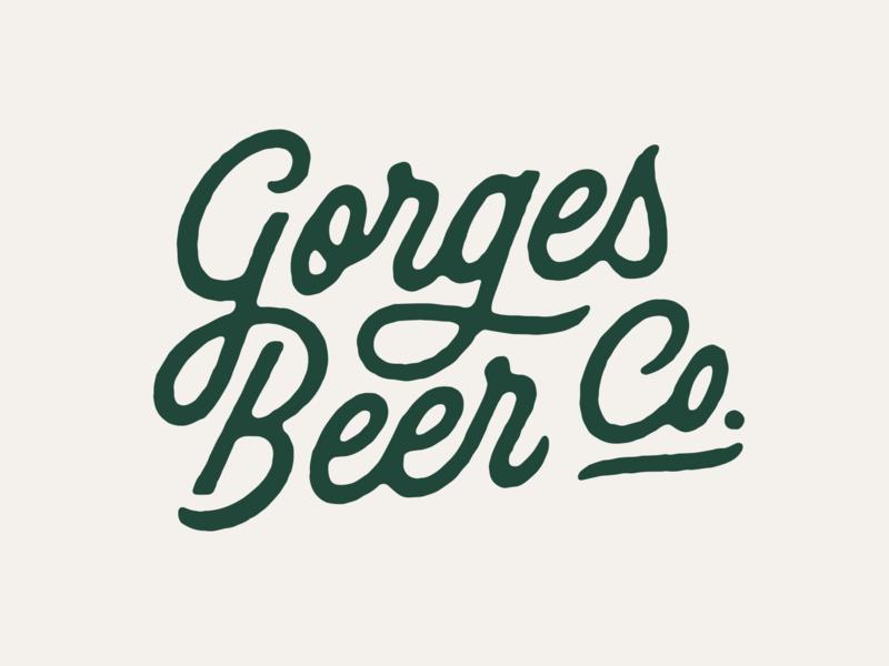 GBC Script texture branding logotype design typography custom type oregon brewery logo logotype