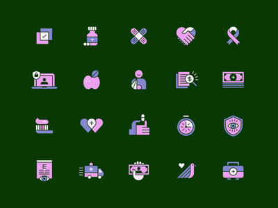 Health Insurance Icons eyes pills apple hands insurance health icon set icons