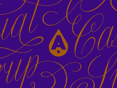 Fancy Beer packaging gold ornamentation script typogaphy ornate ligature swashes customtype beer