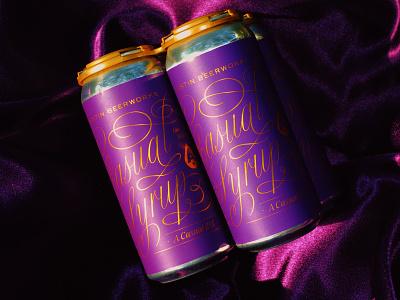 Ca$hual Syzzurrupp beer label beer can beer packaging typography custom type