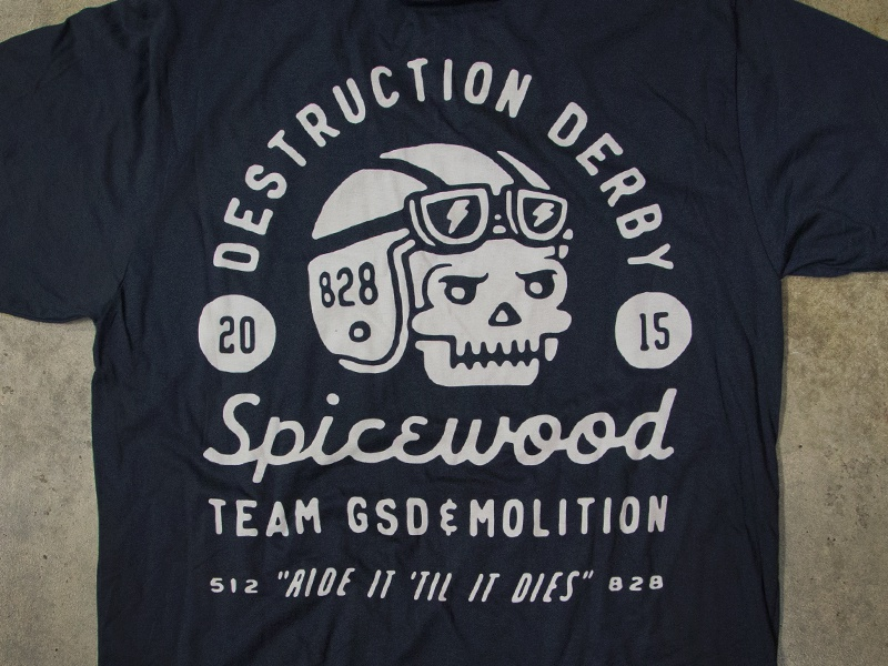 Destruction derby shirt crop