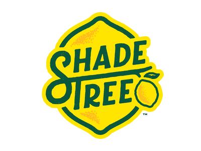 Shade Tree Lemonade identity branding packaging typography lemonade tree lemon logotype logo ligature custom type
