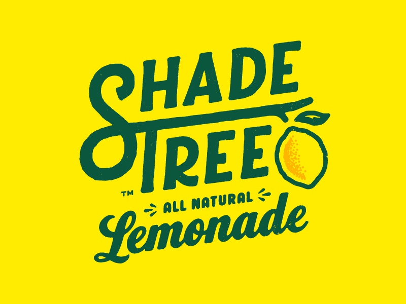 Shade Tree Type identity branding typography custom type ligature logo logotype lemonade lemon tree