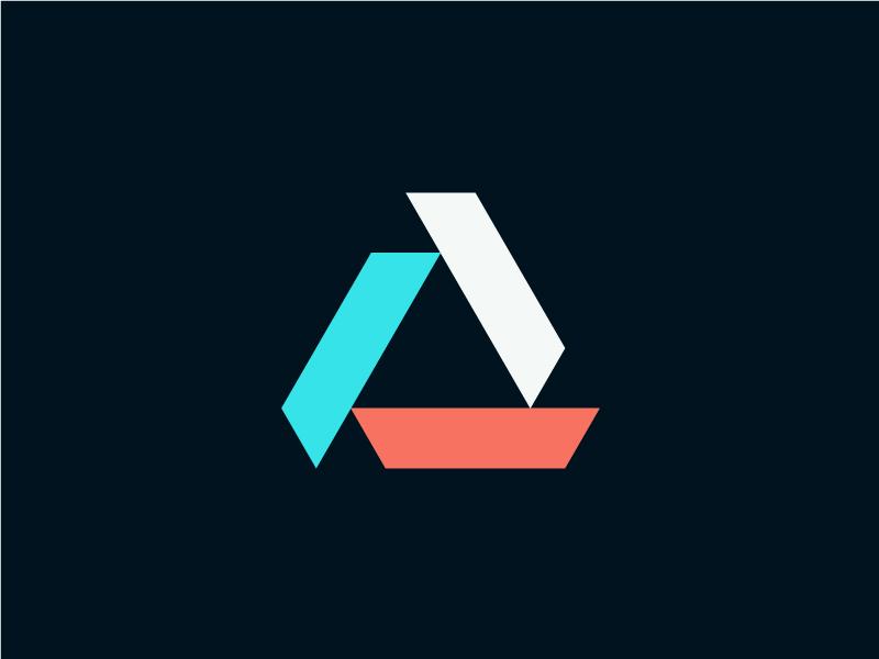 Amicus triad triangle geometric logo