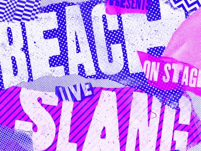 Beach Slang grunge pattern punk paper texture poster