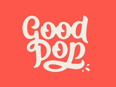 GoodPop Type popsicle pop good logotype ligature script typography