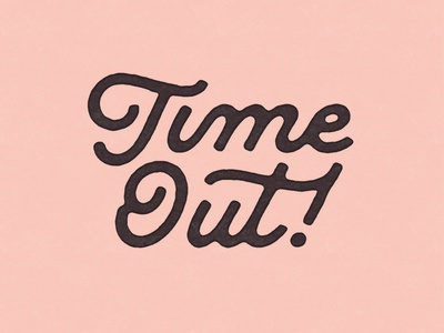 Time Out time typography custom type ligature script