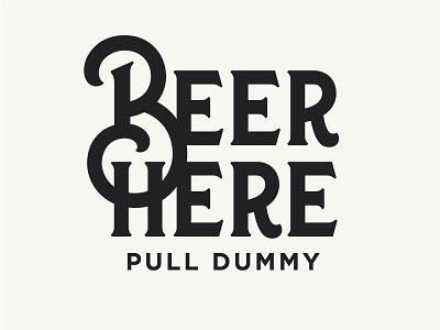Beer Tap Type ligature tap handle beer custom type typography type