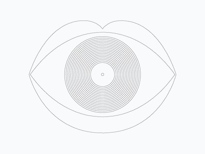 Afterhours Concept illustration eye care lips record music poster