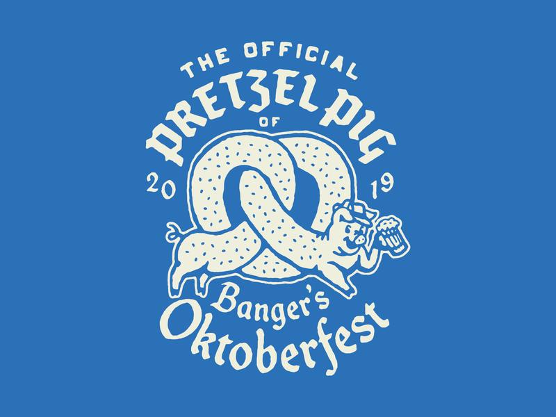 Pretzel Pig™ typogaphy tshirt beer pretzel pig illustration oktoberfest
