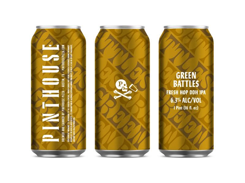 Green Battles design texas austin typography type beer cans cans packaging beer packaging beer