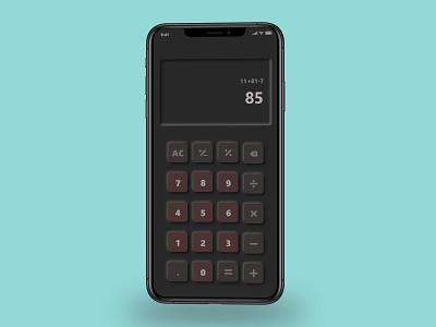 Calculator soft UI ux design ui design soft ui calculator ui calculator mobile ui ui ux design dailyui beginner