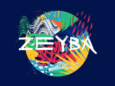 Zeyba ecosystem hoodie apparel graphics apparel design handmade pattern textures lettering design collage illustration