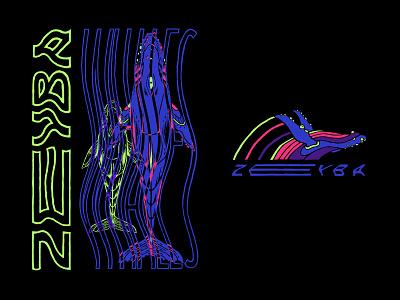 Zeyba screenprint t-shirt design endangeredspecies whales humpback lettering apparel design apparel design illustration