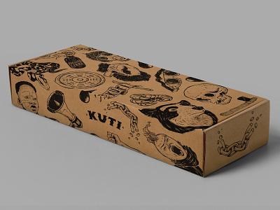 Kuti kuti colombia apparel design lettering pattern branding packaging illustration