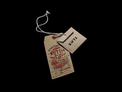Kuti colombia tag design apparel graphics apparel handmade label design packaging branding illustration
