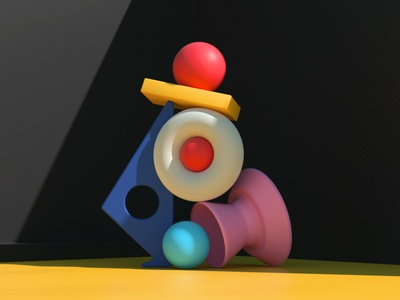 Balance (1) artdirection set design design artdirector digitalart colors illustration 3d
