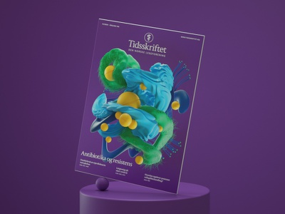 Tidsskriftet Den Norske Legeforening Cover medicine bacteria 3dillustration illustration digitalart color balance artdirector artdirection 3d