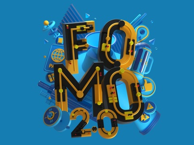 Men's Health USA - FOMO 2.0 April 2021 3d illustration digitalart colors typogaphy type balance shapes design 3dillustration