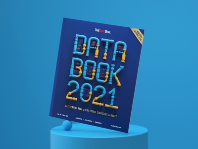 The Real Deal Cover - Data Book 2021 editorial illustration color type artdirector artdirection typography balance 3dillustration digitalart illustration 3d