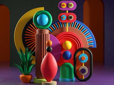 Nualis abstract design artdirection artdirector digitalart illustrator colors illustration photoshop 3d